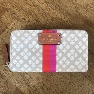 Gorgeous Kate Spade large wallet with Spade detail